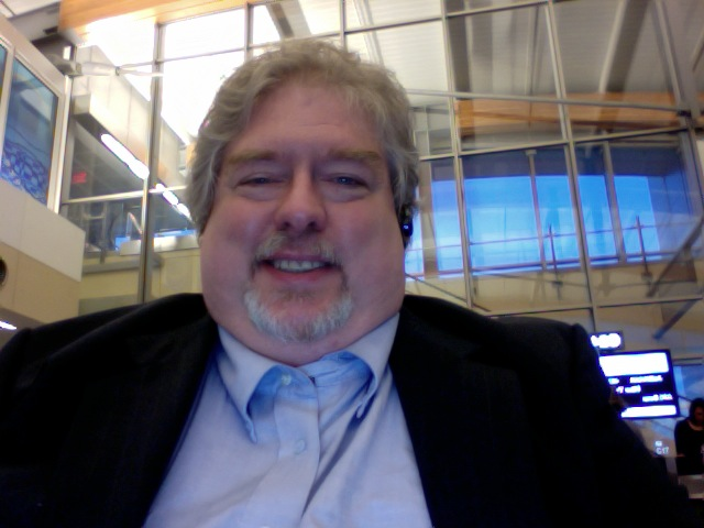 Keith M Corbett in the Raleigh-Durham Airport